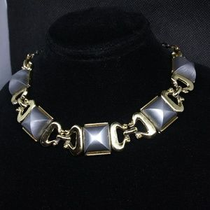 Grey Thermaplastic Glow Choker Necklace